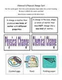 Physical and Chemical Change Sort