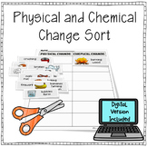 Physical and Chemical Change Sort - Digital & Printable Versions