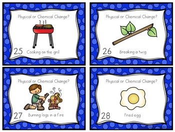 Physical and Chemical Changes 32 Task Cards