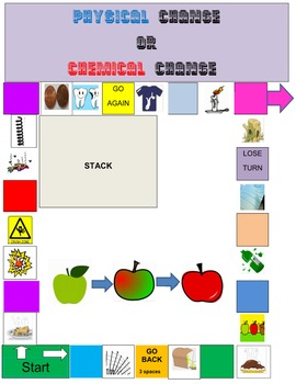 Physical and Chemical Changes Board Game
