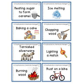 Physical and Chemical Changes (Board Game, Task Cards, Scoot)