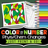 Physical and Chemical Changes -  Color By Number - Christm