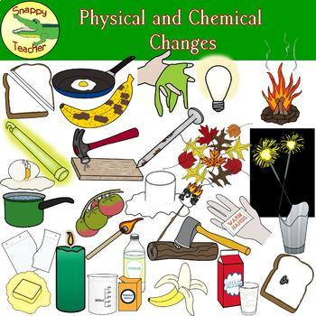 Physical and Chemical Changes Clip Art