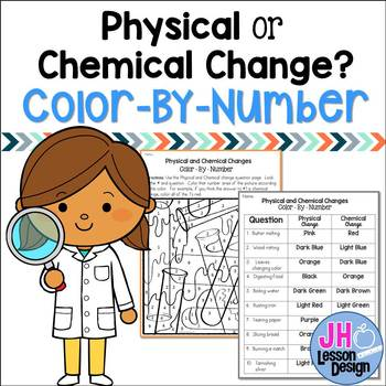 Matter - Physical and Chemical Changes - Color-By-Number