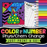 Physical and Chemical Changes - Science Color By Number