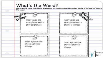 Physical and Chemical Changes - Digital Activity