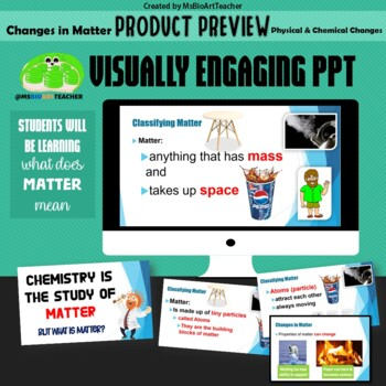 Physical and Chemical Changes-Editable Power Point Presentation