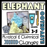 Physical and Chemical Changes Elephant's Toothpaste