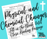 Physical and Chemical Changes Fill-in-the-Blank Notetaking