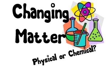 Physical and Chemical Changes Identification Activity