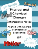 Physical and Chemical Changes Interactive Notebook