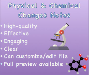 Physical and Chemical Changes Notes