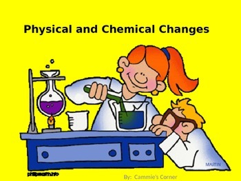 Physical and Chemical Changes POWERPOINT & NOTES- 5th Science