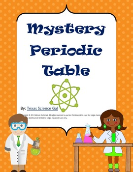Mystery periodic table by texas science gal teachers pay teachers mystery periodic table urtaz Choice Image