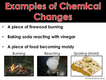 Physical and Chemical Changes - PowerPoint and Notes