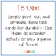 Physical and Chemical Changes -SCOOT/Task Cards-