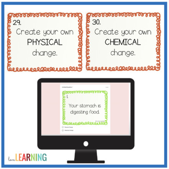Physical and Chemical Changes Task Cards
