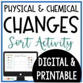 Physical and Chemical Changes SORT Activity