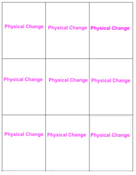 Physical and Chemical Changes Safari Game