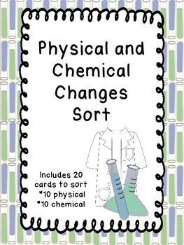 Physical and Chemical Changes Sort