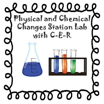 Physical and Chemical Changes Station Lab - with CER