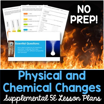 Physical and Chemical Changes - Supplemental Lesson - No Lab