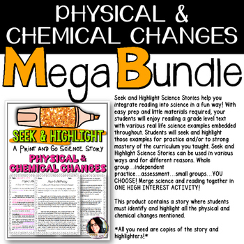 Physical and Chemical Changes Teaching Bundle VALUED AT $8.00
