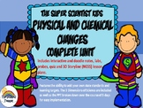 Physical and Chemical Changes Unit w/PPT Doodle Notes Editable 3D Lesson Plans
