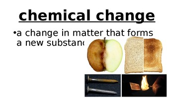 Physical and Chemical Changes Vocabulary