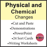 Physical and Chemical Changes Worksheets PowerPoint