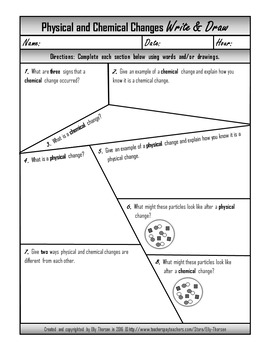 Chemical Change Worksheet Photos - Toribeedesign