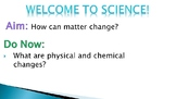 Physical and Chemical Changes with Mixtures and Solutions