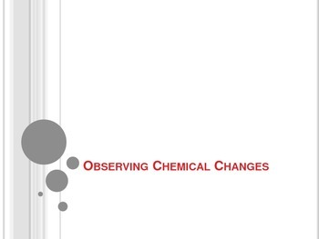 Physical and Chemical Changes/Identify Chemical Reactions Interactive Notebook