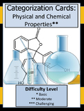 Physical and Chemical Properties Categorization Cards (Card Sort)