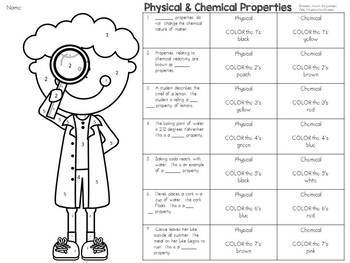 Physical and Chemical Properties: Color-By-Number