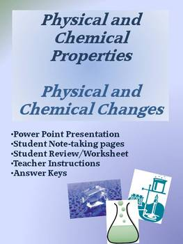 Physical And Chemical Properties And Changes By Vicki The Science Lady