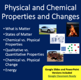Physical and Chemical Properties and Changes Lesson Package - Chemistry