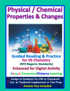 Physical & Chemical Properties & Changes: Essential Skills Lessons & WkSht #5