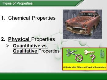 Physical and Chemical Properties and Changes - PowerPoint Lesson & Student Notes