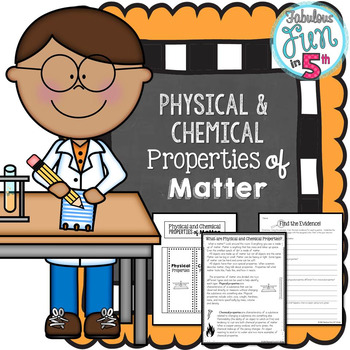 Physical and Chemical Properties of Matter: Nonfiction Pas