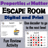 Physical and Chemical Properties of Matter Activity: Escape Room - Science