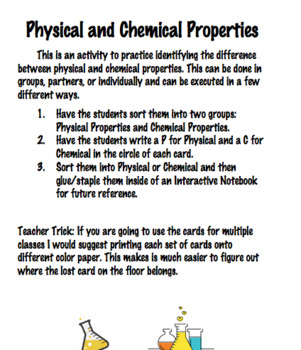 Physical and Chemical Property Cards