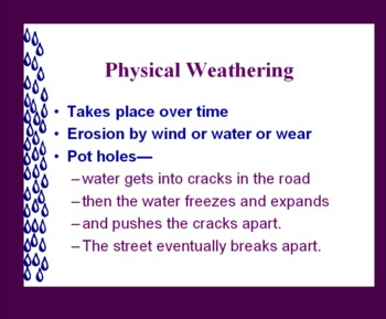 Physical and Chemical Weathering
