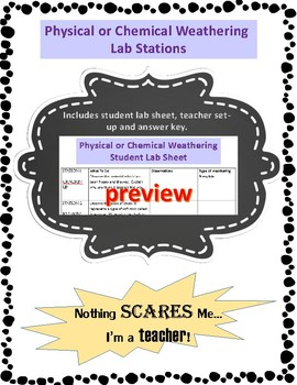 Hands-On Physical and Chemical Weathering Lab Activity