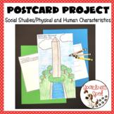 Physical and Human Characteristics-Social Studies Postcard Project