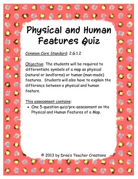 Physical and Human Features Quiz