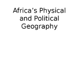 Physical and Political Maps of Africa (7th Grade GSE)