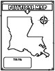 Physical and Political Maps of Louisiana Anchor Charts, T-Chart, and Maps