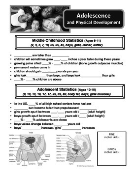 Physical and Sexual Development of Adolescents