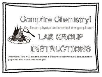 Physical & chemical changes s'mores lab 5th 6th 7th 8th elementary middle school